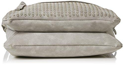 Rieker Damen H1409 Schultertasche, 3x24x25 cm Grau (Grey/Grau-silber)