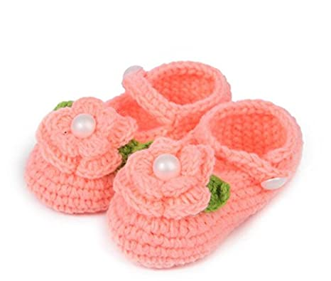 Kingwin bebé recién nacido Flor Crochet de Punto zapatos sandalias ...