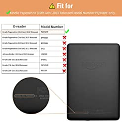 INFILAND Case for Kindle Paperwhite (10th Generation-2018 Release), Thinnest and Lightest Cover Compatible with Amazon Kindle Paperwhite 2018 Release(Auto Sleep/Wake Function),Navy