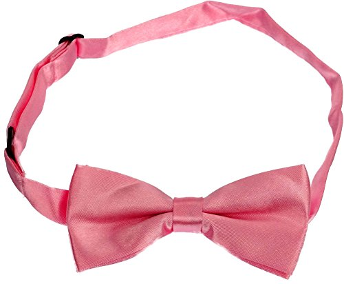 Bow Ties for Boys & Girls, Adjustable From Toddler to Kids Sizes (One Size, Pink)
