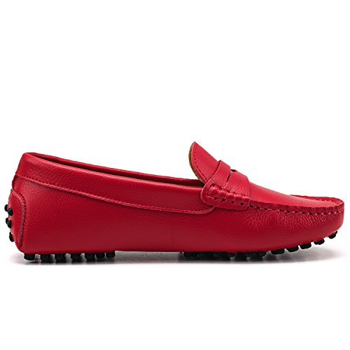on Casual Shoes Red Women's Flats Loafers Slip Ausland xaBAq7gw