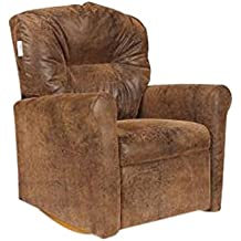 Dozydotes Child Rocker Recliner Contemporary Brown Bomber DZD10583
