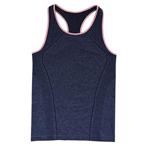 Zxl-yf Sommer Neue atmungsaktive Laufweste Damen schnell trocknende Kleidung Europa und die Vereinigten Staaten Explosion Modelle Fitness Yoga Kleidung ärmellos T 桖 (Farbe : Blue Color, größe : XL)