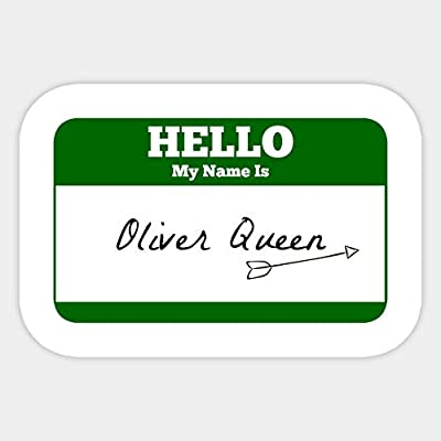 Hello My Name is Oliver Queen - Green Arrow - Sticker Graphic - Car Vinyl Sticker Decal Bumper Sticker for Auto Cars Trucks: Kitchen & Dining