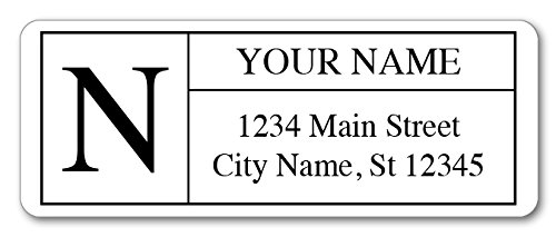(Personalized Return Address Labels - Monogram Design - 120 Custom Self-Adhesive Stickers)