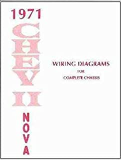 1971 chevy ii & nova complete set of factory electrical wiring diagrams &  schematics guide -