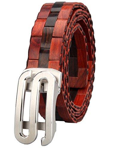 Menschwear Mens & Womens Adjustable Palisander Wooden Belt Handmade 120CM by Menschwear