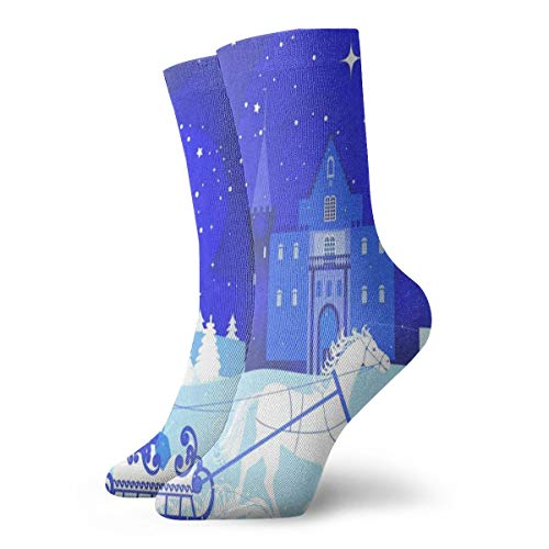 (Crew Socks Winter Snow Queen And Castle Custom Personalized Womens Stocking Decor Sock Clearance For Girls)