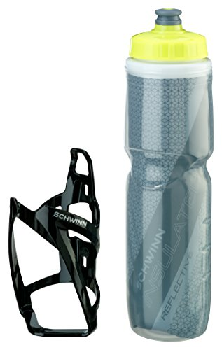 Schwinn Reflective Insulated Water Bottle with Cage, 26 oz by Schwinn