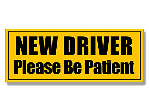 American Vinyl New Driver Please Be Patient Bumper Sticker (Safe First car Safety Drive Student)
