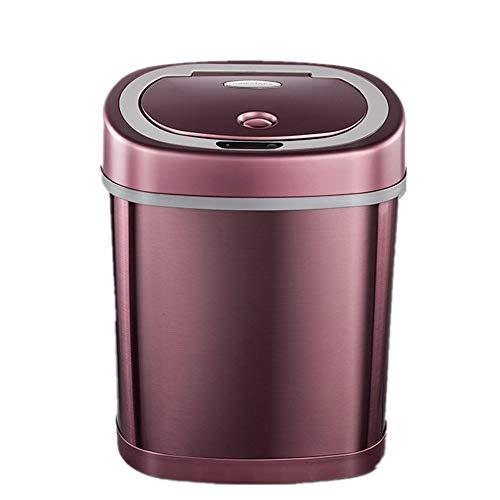 JenLn Container met recycling 12L inhoud roestvrij staal Inductieve Intelligentie Trash Can Home Office Automatische…
