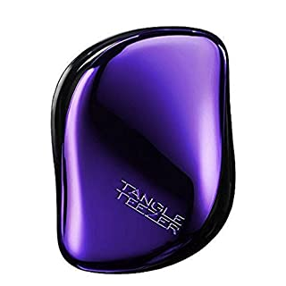Tangle Teezer The Compact Styler, On-the-go Detangling Hairbrush for All Hair Types - Purple Dazzle