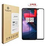 [2 Pack] Ytaland Screen Protector for Oneplus 6, [ Full Glue ] [ Full Coverage ] [0.3mm, 2.5D] [Bubble-Free] [9H Hardness] [HD Clear] Tempered Glass Screen Protector for Oneplus 6 (Black)