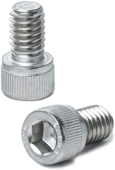 5//16-24 x 1 Button Head Socket Cap Screws Bright Finish Quantity 10 By Fastenere Lightning Stainless Full Thread Stainless Steel 18-8 Machine Thread Allen Socket Drive