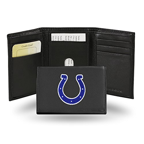 NFL Indianapolis Colts Embroidered Genuine Leather Trifold Wallet