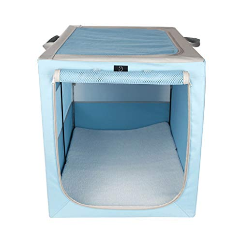 Houses & Habitats Outdoor Pet Tent Closed Cat Litter Winter Warm Pet House Indoor Multi-Purpose Cat Delivery Room Portable Pet Play Fence Collapsible Kennel (Color : Blue, Size : 537557cm)