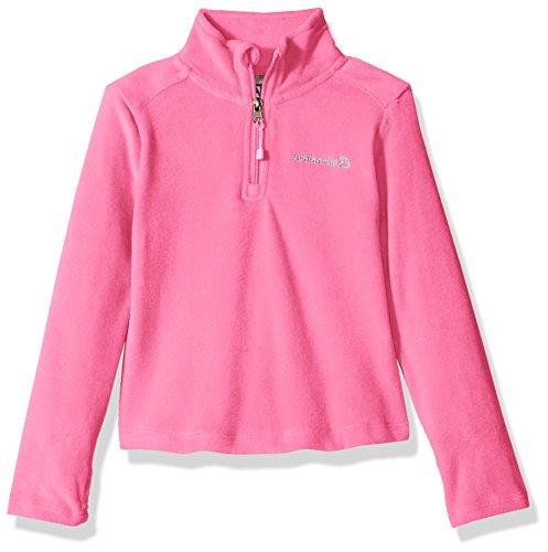 Avalanche Little Girls' Quarter Zip Fleece Pullover Top, Sugar Plum, 4