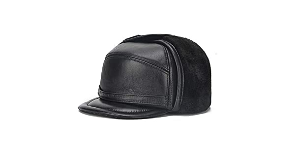 XINQUANWANG Winter Middle-aged Leather Hat Male First Layer