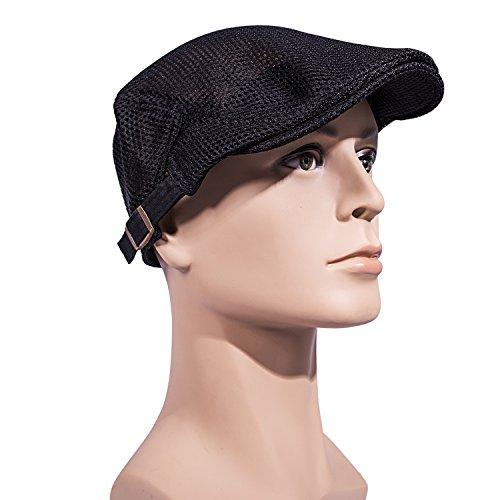 2782ccf5bdd Men Breathable mesh Summer hat Newsboy Beret Ivy Cap Cabbie - Import It All