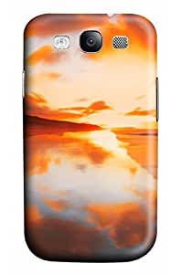 Cute The sea melted into the sky Designed PC Materical DIY Phone Case for Samsung s3/i9300