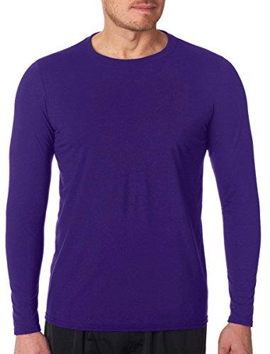 Gildan mens Performance 4.5 oz. Long-Sleeve T-Shirt(G424)-PURPLE-XL