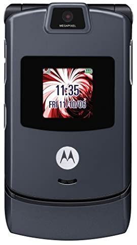 Motorola RAZR V3M Cell Phone for Altell with No Contract (Cerfied Refurbished) (SLATE GREY) (High Megapixel Phone)