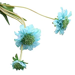 NXDA Artificial Flowers, 1 piece of Windmill Orchid Fake Silk Flowers Bouquet for Home Floor Garden Office Wedding Decor (Sky blue) 79