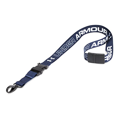 Under Armour Undeniable Lanyard, Midnight Navy/White, One Size (Navy Blue Lanyard)