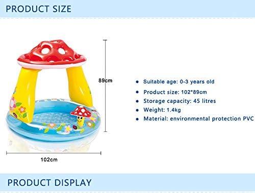 BXKEJI キノコ型のインフレータブルプール明るい子供用インフレータブルプールガーデンプールベビーウォーターゲームプール