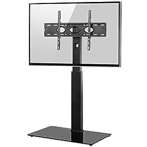 RFIVER Support TV sur Pied Meuble TV avec Support Pivotant Cantilever pour Télés et Ecrans LCD LED de 32 à 65 Pouces…