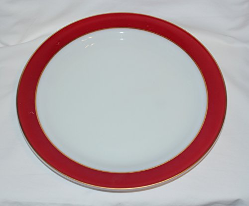 Corning Pyrex FLAMINGO RED Glass 12 Inch Round Chop Plate Platter ()