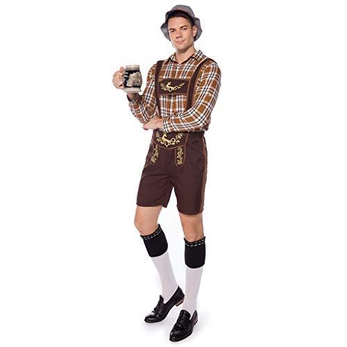 lotteQW Men Vintage Beer Festival Bavarian Long Sleeve Waitress Cosplay Costume Suit 2019 New Suit ()