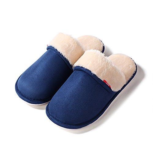 Fankou Accueil chaussons des couples prix plancher pendant le printemps et lautomne accueil Chaussons en coton non-slip hommes et faites glisser le mot ,26-28 (15-17 cm), Gris