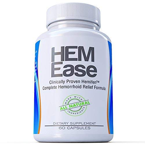 Hemorrhoid Treatment Pills Hem-Ease All Natural – Rapid Absorption, Long Lasting Comfort, InstantPain Relief –Calm Swollen Hemorrhoids, Minimize Bleeding & Burning, Improve Colon Health
