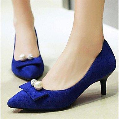 RTRY La Mujer Confort Tacones De Cuero De Nubuck Pu Casual Primavera Verano Azul Negro 2A-2 3/4 Pulg. US8 / EU39 / UK6 / CN39