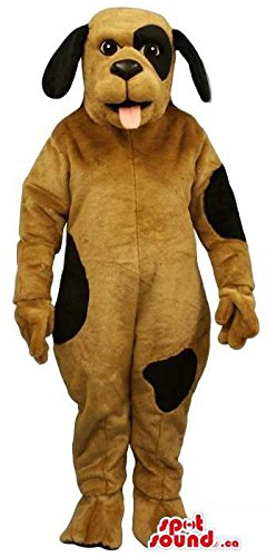 Spot Dog Mascot (Customised Cute Brown Dog Plush Mascot SpotSound US With Black)