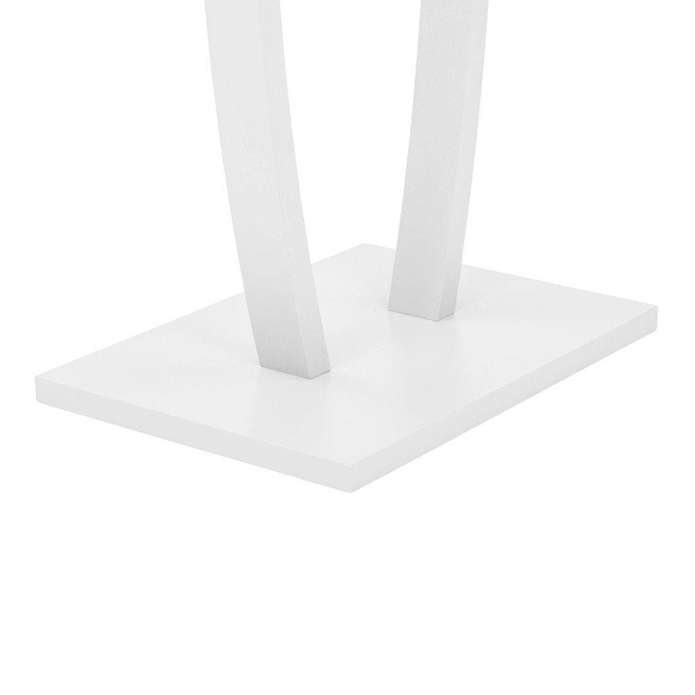 regolabile in altezza da 95 a 165 cm lungo 80 cm colore: Nero Bakaji Stand Appendiabiti in metallo cromato