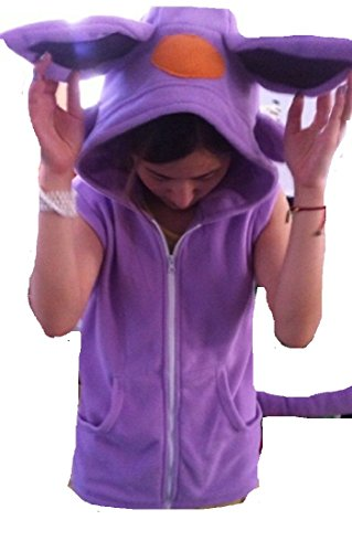 Pokemon Espeon kigurumi short sleeve hood hoodie Costume Cosplay