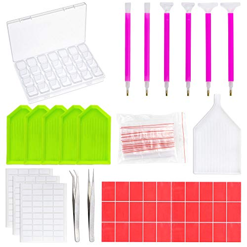 Outuxed 78Pcs Diamond Painting Tools 5D DIY Cross Stitch Too