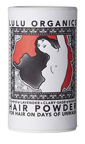 Organic Lavender & Clary Sage Travel/Purse Size Hair Powder/Dry Shampoo/Vegan / Cruelty Free/No Synthetic Fragrance by Lulu Organics