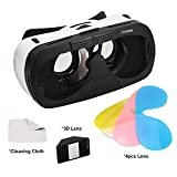 3D VR Glasses Case, TTOBS 3D VR Game Headset Glasses 3D Digital Glasses with 3D Lens Fit for IOS & Android within 4.7-6.0 inches Smartphone iPhone 6/6S, Multicolor Lens Replacement