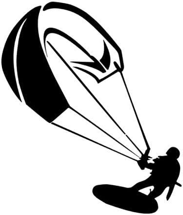 Generic Kite Surfing Kite Surfer Aufkleber Surf Surfen Sport Aufkleber In Den Größen 10cm 15cm 20cm Oder 25cm 144 3 25cm Schwarz Glanz Garten