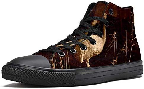 Zapatos de lona MAPOLO Flightless Bird zapatos de lona de alta calidad con estampado para hombre zapatillas de moda para hombre cómodos zapatos planos para caminar