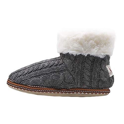 Winter BUYITNOW Plush Women Shoes Outdoor House Indoor Fleece Cozy Gray Slippers Bootie Brwrc7YqZ