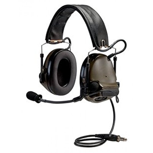 3M PELTOR COMTAC 93434 PELTORCOMTACIII MT17H682FB-47 GN Advanced Combat Helmet (ACH) Communication Headset, Single COMM, Headband, 10.25