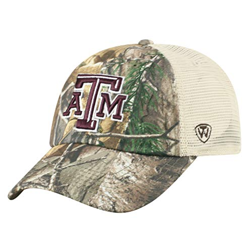 - NCAA Texas A&M Aggies Men's Camo Stock Adjustable Mesh Icon Hat, Real Tree