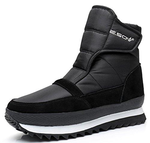 LabatoStyle Unisex Waterproof Platform Snow Boot Winter Sneakers Couple Cotton Outdoor Mid Calf Shoes