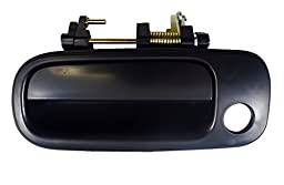PT Auto Warehouse TO-3176S-FL - Outside Exterior Outer Door Handle, Smooth Black - Driver Side Front