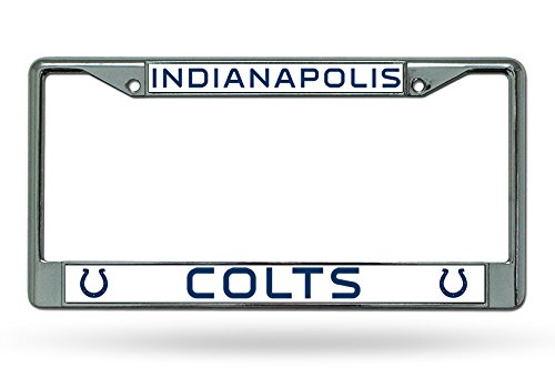 Rico Industries NFL Indianapolis Colts Chrome Plate Frame,12-Inch by 6-Inch,Silver