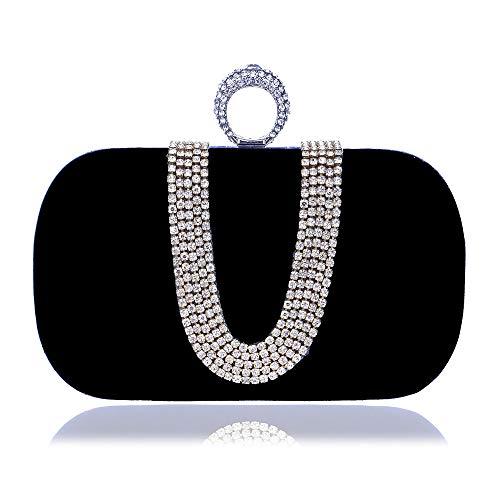 e3d3b793c Banquete De Noche Forma Imitación B Nupcial Bolso Con Diamantes Fang1106  Bandolera Las color Para Mujer ...